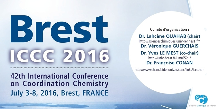 42nd International Conference on Coordination Chemistry – ICCC 2016
