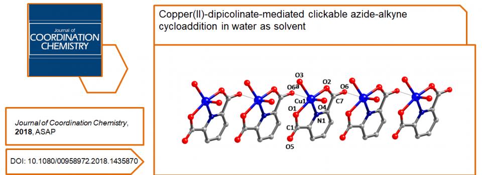 Nouvelle publication dans Journal of Coordination Chemistry