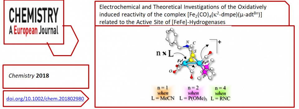 Nouvelle publication dans Chemistry A Eur. J.
